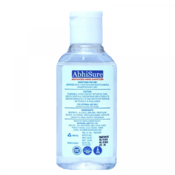 Microwin® AbhiSure Isopropyl-Alcohol Based Instant Hand Sanitizer 800x800