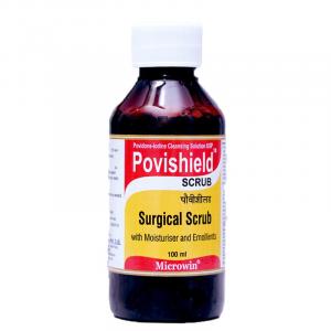Povishield™ 7.5% Povidone- Iodine Based Surgical Scrub 800x800
